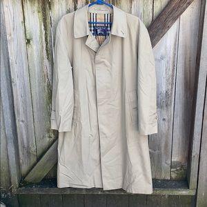 Vintage Burberry Nova Check Lined Trench Coat EUC